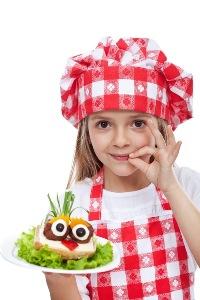 kucharz dziewczynka mniejsze