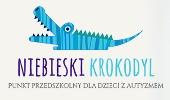 logo niebieski krokodyl